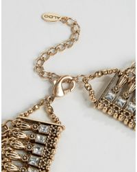 ALDO - Metallic Borgdanoff Statement Necklace - Gold - Lyst