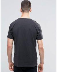 Pretty Green - Gray T-shirt With Paisley Logo Print In Slim Fit Dark Grey - Grey for Men - Lyst