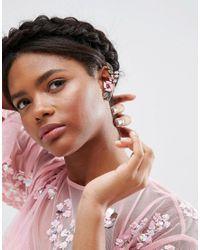 ASOS - Pink Pretty Flower Ear Cuffs - Lyst