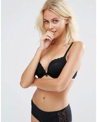 New Look - Lace Push Up Bra - Black - Lyst