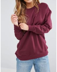 ASOS - Purple The Ultimate Boyfriend Sweat - Lyst