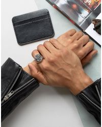Reclaimed (vintage) - Metallic Inspired Signet Ring for Men - Lyst