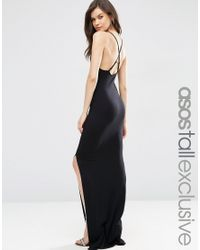 ASOS | Black Halter Strappy Back Maxi Dress | Lyst