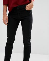 Whistles - Black High Waisted Skinny Jean - Lyst