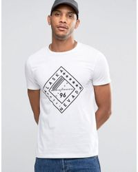 ASOS - White T-shirt With Text Diamond Print for Men - Lyst