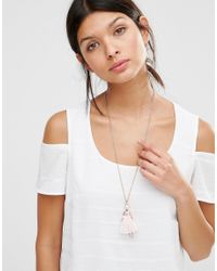 Ted Baker - Pink Pave Ballerina Pendant Necklace - Lyst