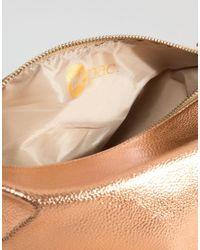 Mi-Pac - Make-up Bag In Metallic Rose Gold - Rose Gold - Lyst