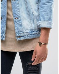 Classics 77 | Leather & Metal Bracelet With Id Tag - Brown | Lyst