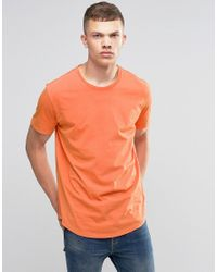 Bench | Orange T-shirt Innate With Worn Look for Men | Lyst