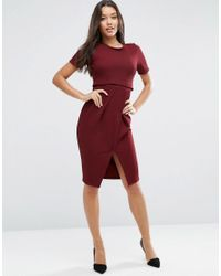 ASOS | Double Layer Textured Wiggle Dress | Lyst
