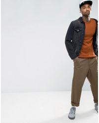 ASOS - Brown Longline Muscle Fit Jumper In Dark Tan for Men - Lyst