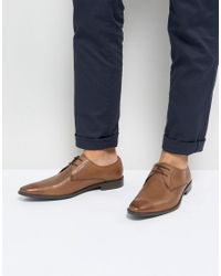 Frank Wright - Brown Derby Shoes In Tan Leather for Men - Lyst