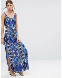 Vero Moda | Red Easy Printed Maxi Dress - Egypt Print | Lyst