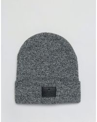 ASOS | Patch Beanie In Black And White Twist for Men | Lyst