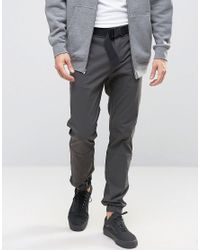 ASOS | Gray Skinny Pants In Dark Grey Paper Touch Cotton Mix for Men | Lyst