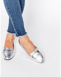 ASOS | Metallic Lizzy Ballet Loafer Flats | Lyst