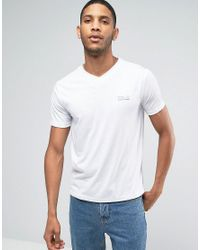 Polo Ralph Lauren - By Ralph Lauren Regular Fit Vneck Logo T-shirt In White for Men - Lyst