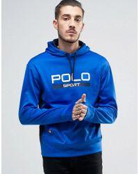 Polo Ralph Lauren | By Ralph Lauren Large Logo Hoodie In Blue for Men | Lyst