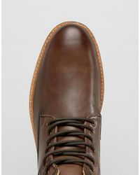 Ben Sherman - Brown Jack Lace Up Boots for Men - Lyst