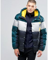 36b0f5a7866b Lyst - adidas Originals Id96 Quilted Jacket In Blue Ay9153 - Blue in ...