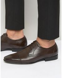 Frank Wright | Toe Cap Oxford Shoes In Brown for Men | Lyst
