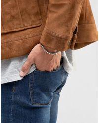 ASOS - Metallic Smart Metal And Rope Bracelet In Tan And Silver for Men - Lyst