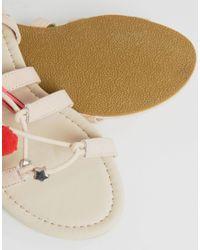 ASOS - Natural Fera Novelty Pom Sandals - Lyst