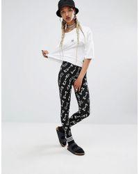 Adidas Originals | Black Originals X Pharrell Williams Graphic Print Leggings | Lyst