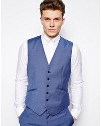 Reiss | Blue Suit Waistcoat In Regular Fit for Men | Lyst