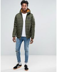Timberland - Lightweight Hooded Down Jacket In Green for Men - Lyst
