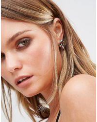 ALDO - Metallic Mcclouchan Through & Through Earrings - Lyst