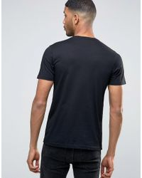 PS by Paul Smith - Paul Smith T-shirt With Animal Print In Slim Fit Black for Men - Lyst