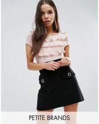 Vero Moda | Pink Tiered Ruffle Top | Lyst