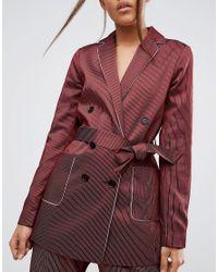 ASOS - Red Piped Stripe Pyjama Jacket - Lyst