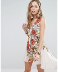 Free People | Multicolor Printed Tunic Dress | Lyst