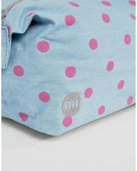 Mi-Pac - Mi Pac Pola Dot Make-up Bag - Blue - Lyst