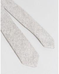 Noak - Gray Tie In Wool for Men - Lyst