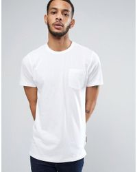 French Connection | White Longline Pocket T-shirt for Men | Lyst