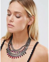 Girls On Film | Black Statement Necklace | Lyst