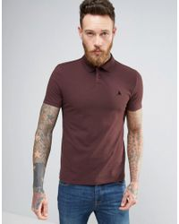 ASOS | Red Muscle Pique Polo Shirt With Logo In Burgundy for Men | Lyst