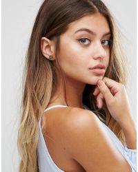 Glamorous - Metallic Shape Stud Multipack Earrings - Lyst