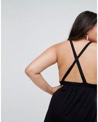 ASOS - Black Asos Design Curve Halter Mini Dress - Lyst