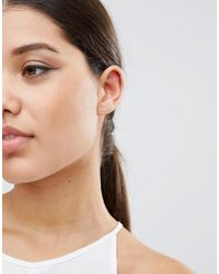 ASOS | Metallic Pack Of 2 Sterling Silver Stud & Ear Climber Earring | Lyst