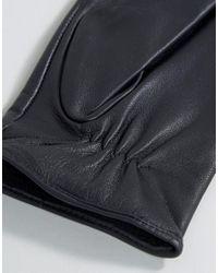 Barney's Originals - Blue Barneys Leather Gloves In Black - Lyst