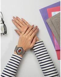 Nylon | Metallic Chunky Stone Detail Festival Bracelet | Lyst