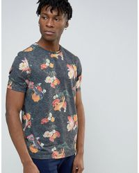 ASOS   Blue T-shirt With Fish All Over Print In Navy for Men   Lyst