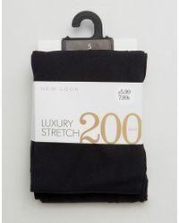 New Look | Black Premium 200 Denier Tights | Lyst