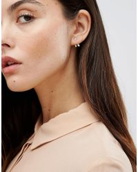 Kingsley Ryan - Metallic Rose Gold Plated Stone Through & Through Earrings - Lyst