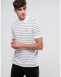 Polo Ralph Lauren | White Stripe Polo Shirt Slim Fit Pima Cotton for Men | Lyst