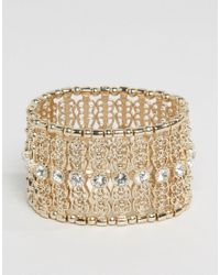 Oasis - Metallic Asis Filigree Stretch Bracelet - Lyst